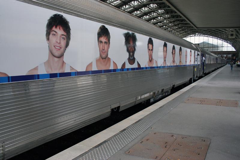 Train Nivea à l'occasion des 100 ans de la marque