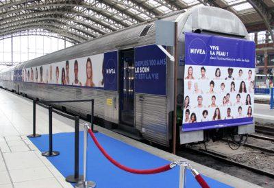 Les 100 ans de Nivea, la visite du train !