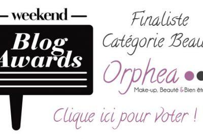 Votez pour moi pour les Weekend Blog Awards !
