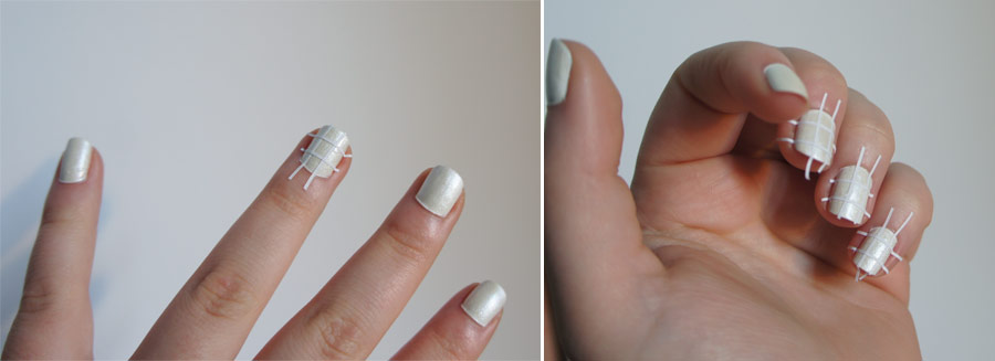 Nail Art n°1 : Le Quadrillé Coloré