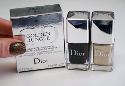 Golden Jungle / Ongles Effet Cuir Croco – Dior