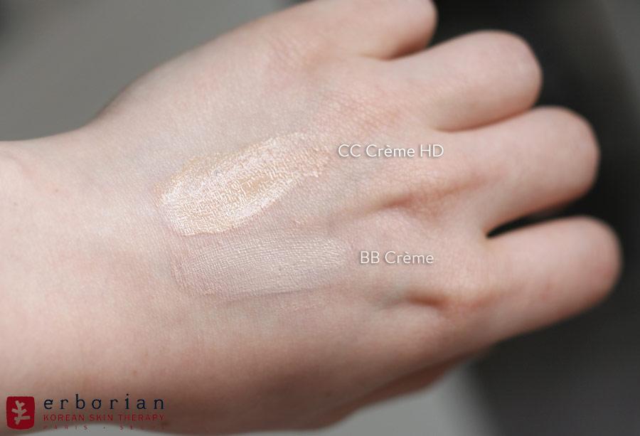 Comparatif BB Crème & CC Crème HD - Erborian