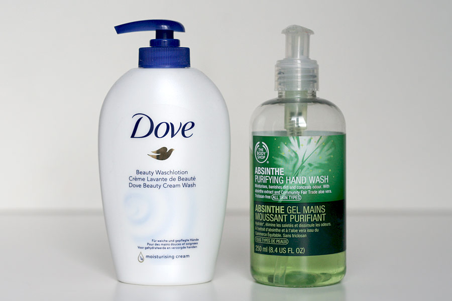Savons pour les mains - Dove & The Body Shop