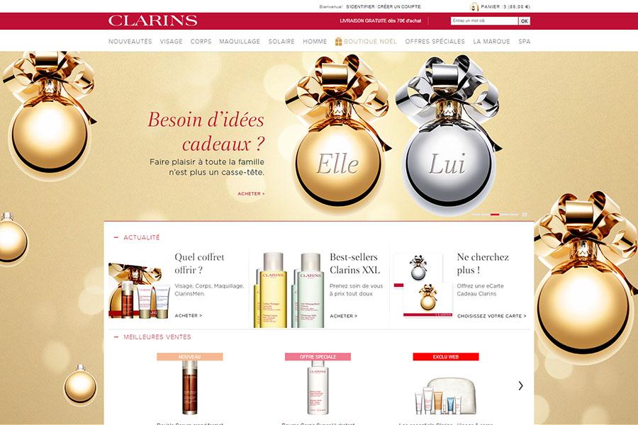 E-shop - Clarins