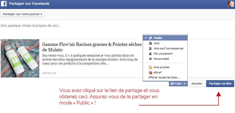 Tutoriel Partage Facebook