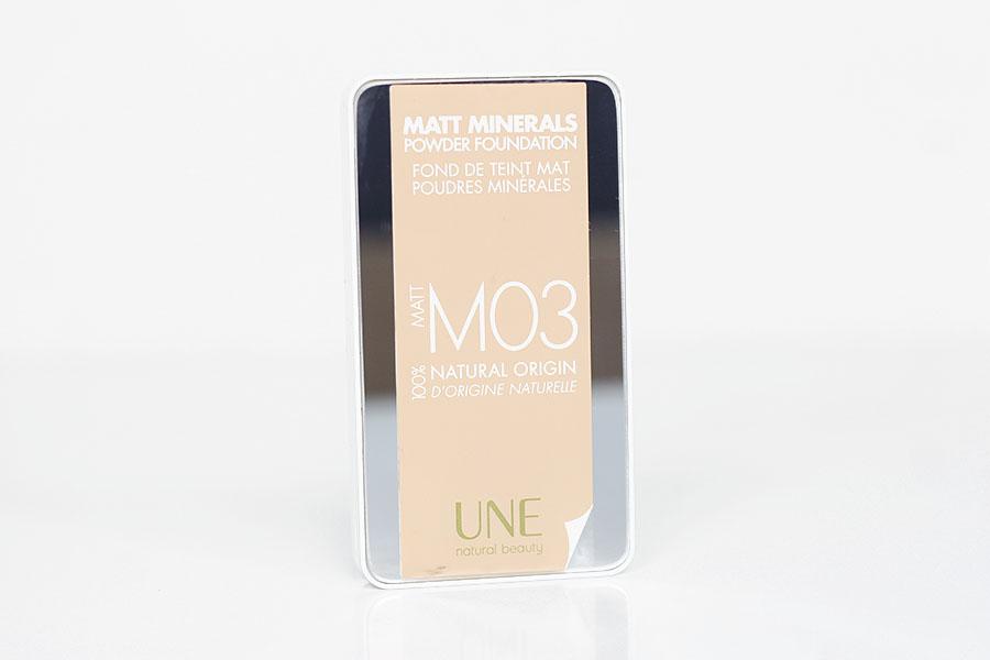Fond de teint mat poudres minérales M03 - UNE