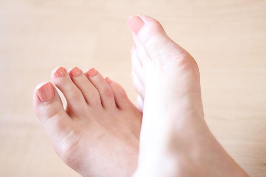 Routine pieds tout doux