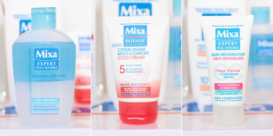 Démaquillant Yeux, Crème Mains Multi-confort & Soin réhydratant anti-rougeurs - Mixa