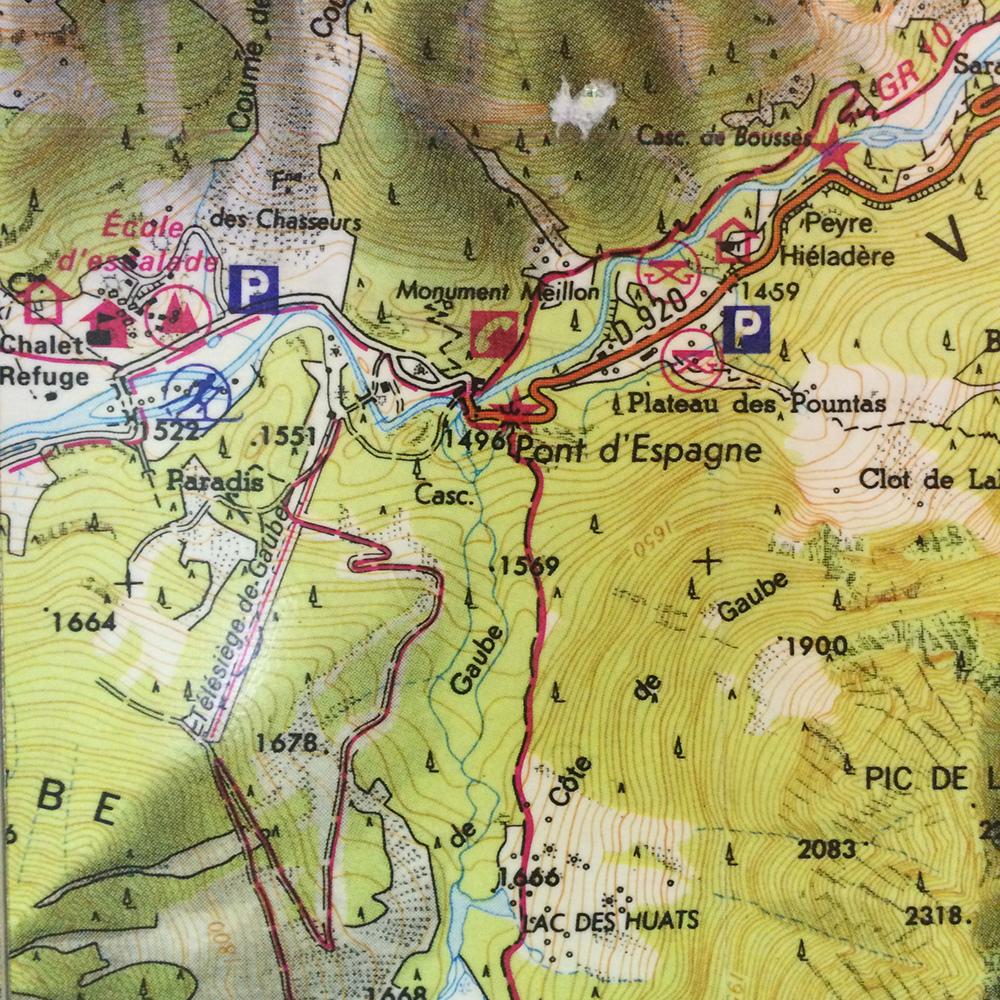 Carte Pont d'Espagne (Cauterets)