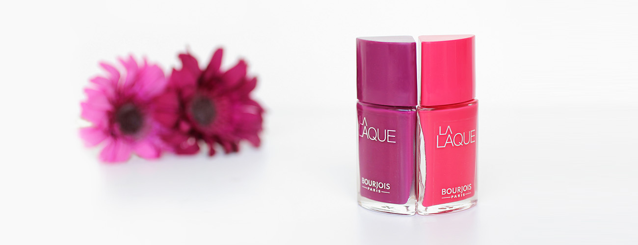 La Laque Flambant Rose & Beach Violet – Bourjois