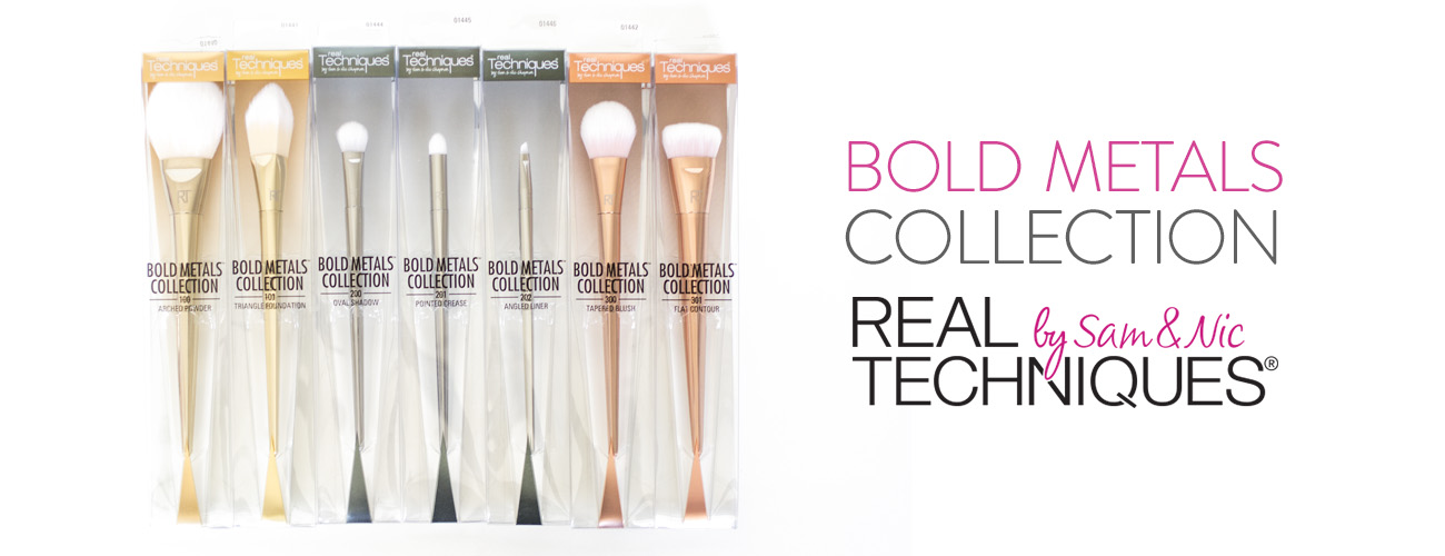Pinceaux Bold Metals – real Techniques