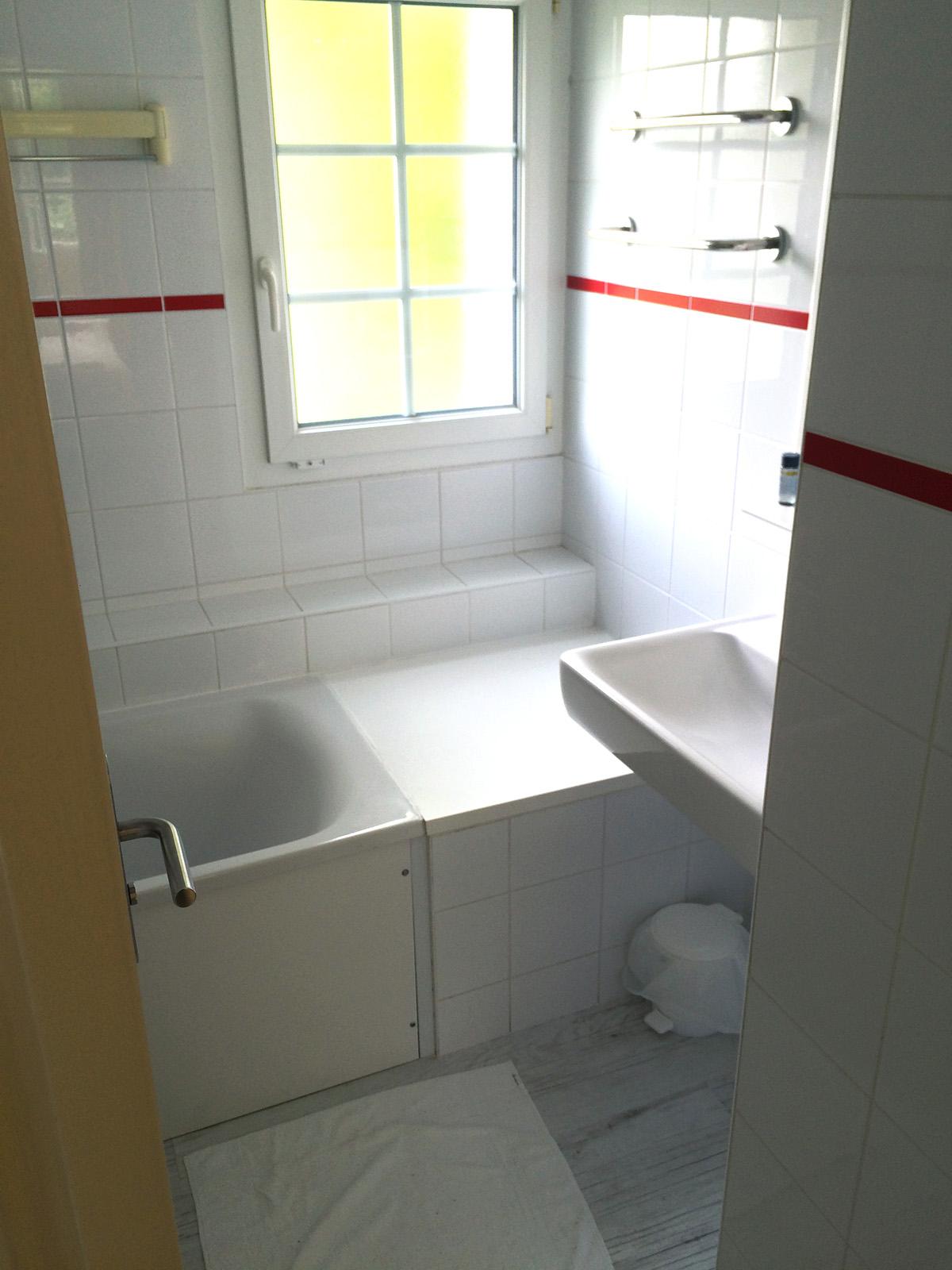 Center Parcs du domaine Le Lac d'Ailette / La salle de bain