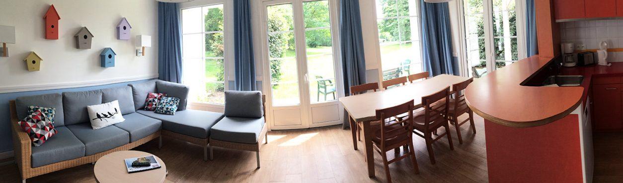 Center Parcs du domaine Le Lac d'Ailette / Le salon