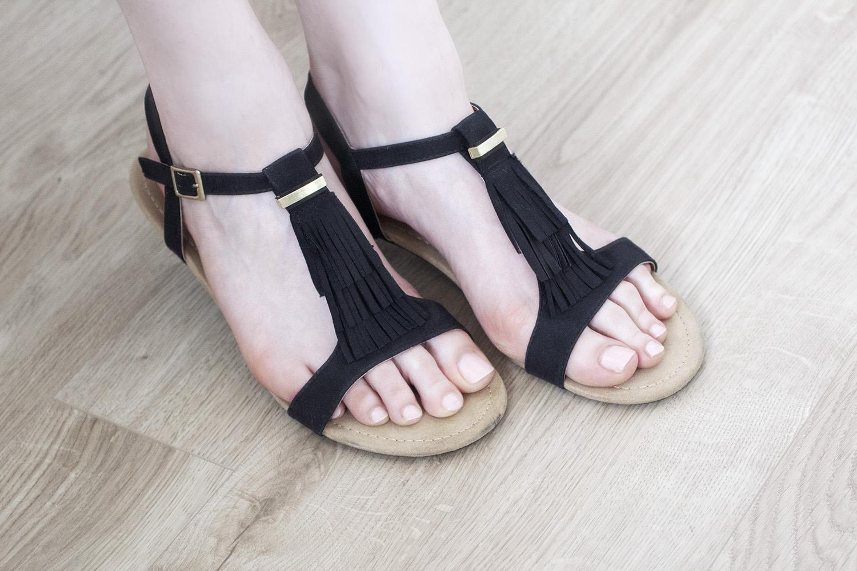 Sandales noires - Chaussea